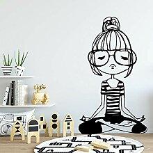 XCSJX Neue Yoga Girl Vinyl Wandaufkleber Home