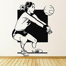 XCSJX Sport Wandaufkleber für Frauen Volleyball