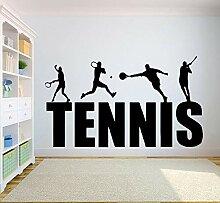 XCSJX Tennisspieler Wandaufkleber Plakatkunst