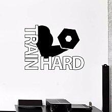 XCSJX Train Hard Wall Decal Schweres Training