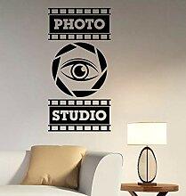 XCSJX Wandfenster Aufkleber Foto Studio Logo