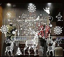 XCWQ Wandaufkleber Weihnachten Glueless