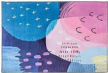 XCXDX Teppich, bunt, Bedruckt, rosa Chenille,
