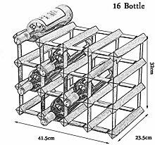 xczdf 16 Flaschen Holz Weinregal, Standschrank