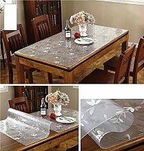 XDDAXYY PVC Tischdecke,Frosted Durchsichtige