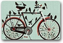 Xdevrbk Novelty Design Custom Bicycle Doormat