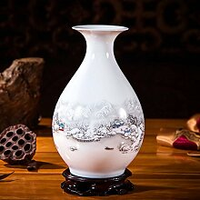 Xdhn Kleine Vase Keramik Ornamente Dekoriert Dekoration Wohnzimmer Blumen Arrangement, Creek Besucher Yu Pot Frühling Flasche