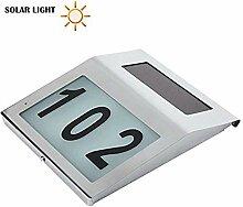 XDLUK Solar Beleuchtete Adresse Schild Hausnummer,