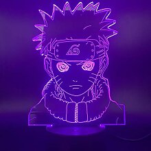 Xdorra Naruto 3D Anime Nachtlicht USB LED