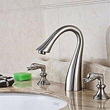 XDOUBAO Faucet Wasserhahn Waschtischmischer Nickel