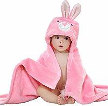 XDXDWEWERT Baby Cartoon Kaninchen Kapuzen Handtuch