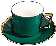 XDYNJYNL Porzellan Grüner Kaffeetasse und