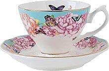XDYNJYNL Porzellan-Kaffeetasse und Untertasse Set,