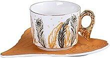 XDYNJYNL Porzellan Kaffeetassen und Untertasse