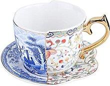 XDYNJYNL Porzellan-Kaffeetassen und Untertasse