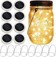 XelparucTS Mason Jar Solar Laterne Lichter, 8 Pack