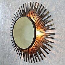 Xenna Antik Kupfer Sunburst Strahlen Licht Wandspiegel von G Decor mir-10