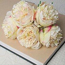 XFLOWR Künstliche Seide Rosa Pfingstrose Blumen