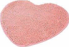 XG Chenille herzförmigen Pfirsich Herz-Rutsch-Teppich-Pad saugfähige rutschfeste Badematte