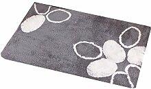 XG Haushalts Matten-Schlafzimmer-Teppichmatten Fußmatte saugfähige rutschfeste Badematte kaufen One Get One , black flower , 40*60cm