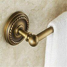 XG Im europäischen Stil antike Toilette Bad Handtuchhalter einzige Stange Handtuchhalter Handtuchhalter voller Kupfer Bad-Accessoires