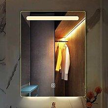 XGGYO Spiegel-Badezimmer, beleuchteter geführter