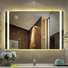 XGGYO Spiegel Badezimmer, rahmenloser LED