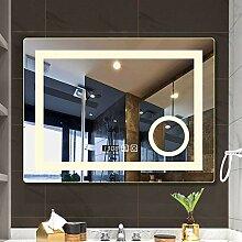XGGYO Wandmontierter Badezimmerspiegel,