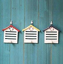 XGMSD 3 Mittelmeer Amerikanisches Land Der Alten Holzhaken Wanddekorationen Auflistung Kleiderbügel Retro Schlüssel Kleiderhaken Zu Tun