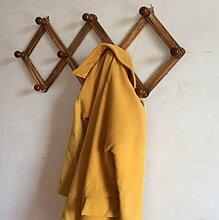 XGMSD Aufhänger-Haken Massivholztür Rückwand Hängende Taschen Von Kleiderhaken Kleiderbügel Groß Holz Schlafzimmer Wohnzimmer Kleiderhaken