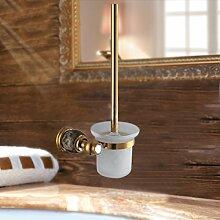 XGMSD Bad-Accessoires Klobürste Rack Im Europäischen Stil Edelstahl WC-Reinigungsbürste Im Europäischen Stil Retro Mode,B