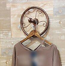 XGMSD Bekleidungsgeschäft Kleiderhaken Wandhaken Kleiderbügel Kleine Haken Wanddekor Jahrgang Hängender Kleiderhaken,A