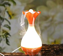 XGMSD USB Mini Aromatherapie-Maschine Luftreiniger Luftbefeuchter Multicolor Hohe 20,3 Cm Durchmesser 10 Cm.,Orange