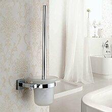XGMSD WC-Bürstenhalter Hochwertige Bad-Accessoires Kupfer Quadratisch Toilettengarnituren Modern Einfach Europa