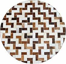 Xgp Teppich Runde Leder Teppich Handgefertigte