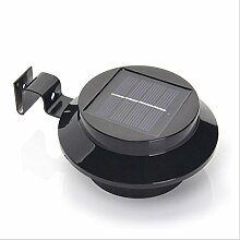 Xh&Yh 2 STÜCKE Solar Wandleuchte LED Outdoor Wasserdichte Zaun Lampe Home Courtyard Sensor Licht Schwarz , white