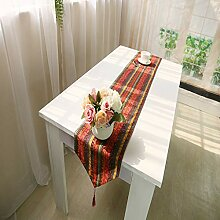 XHC Vintage Leinen Tischläufer, Tischdecke
