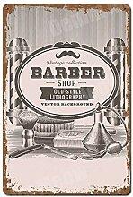 XHHZ Metall Blechschild Wandbild Cuts Shaves