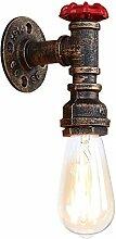 XHJJDJ Industrielle Wandlampe, E27 Antik Metall
