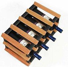 XHLJ Plaid Wine Rack - Freistehendes Weinregal -