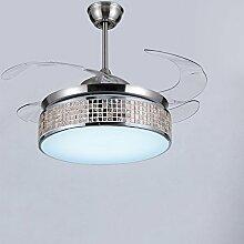 XHOPOS HOME Deckenventilator Fan Light unsichtbare