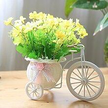XHOPOS HOME Künstliche Blumen einfach modern geflochten Blumenstrauß Hochzeit Dekorationen Zubehör fake Blumen
