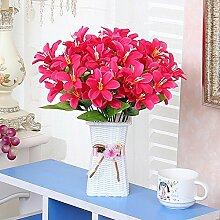 XHOPOS HOME Künstliche Blumen einfach modern Plastikblumen Geflochtene Körbe Garten Blumen Bouquet Hochzeit Dekorationen Zubehör fake Blumen