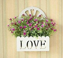 XHOPOS HOME Künstliche Blumen einfach modern Wand montierten Bouquet Hochzeit Dekorationen Zubehör fake Blumen