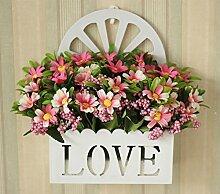 XHOPOS HOME Künstliche Blumen einfach modern Wand montierten Rosa Blumenstrauß Hochzeit Dekorationen Zubehör fake Blumen