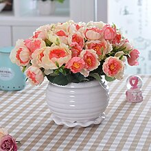 XHOPOS HOME Künstliche Pflanzen Künstliche Blumen Topfpflanzen Wohnzimmer Gelb Blumenarrangements Home Zimmer Büro dekoratives Zubehör
