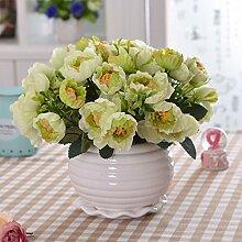XHOPOS HOME Künstliche Pflanzen Künstliche Blumen Topfpflanzen Wohnzimmer Grün Blumenarrangements Home Zimmer Büro dekoratives Zubehör