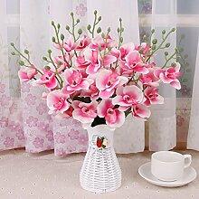 XHOPOS HOME Künstliche Pflanzen Künstliche Blumen Wohnzimmer Outdoor Rosa Orchideen Blumenarrangements Home Zimmer Büro dekoratives Zubehör