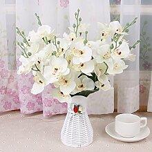 XHOPOS HOME Künstliche Pflanzen Künstliche Blumen Wohnzimmer Outdoor Weiße Orchidee Blumenschmuck Home Zimmer Büro dekoratives Zubehör