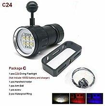 XHP70 / L2 Tauch-Taschenlampe, LED, 80 m, Blau +